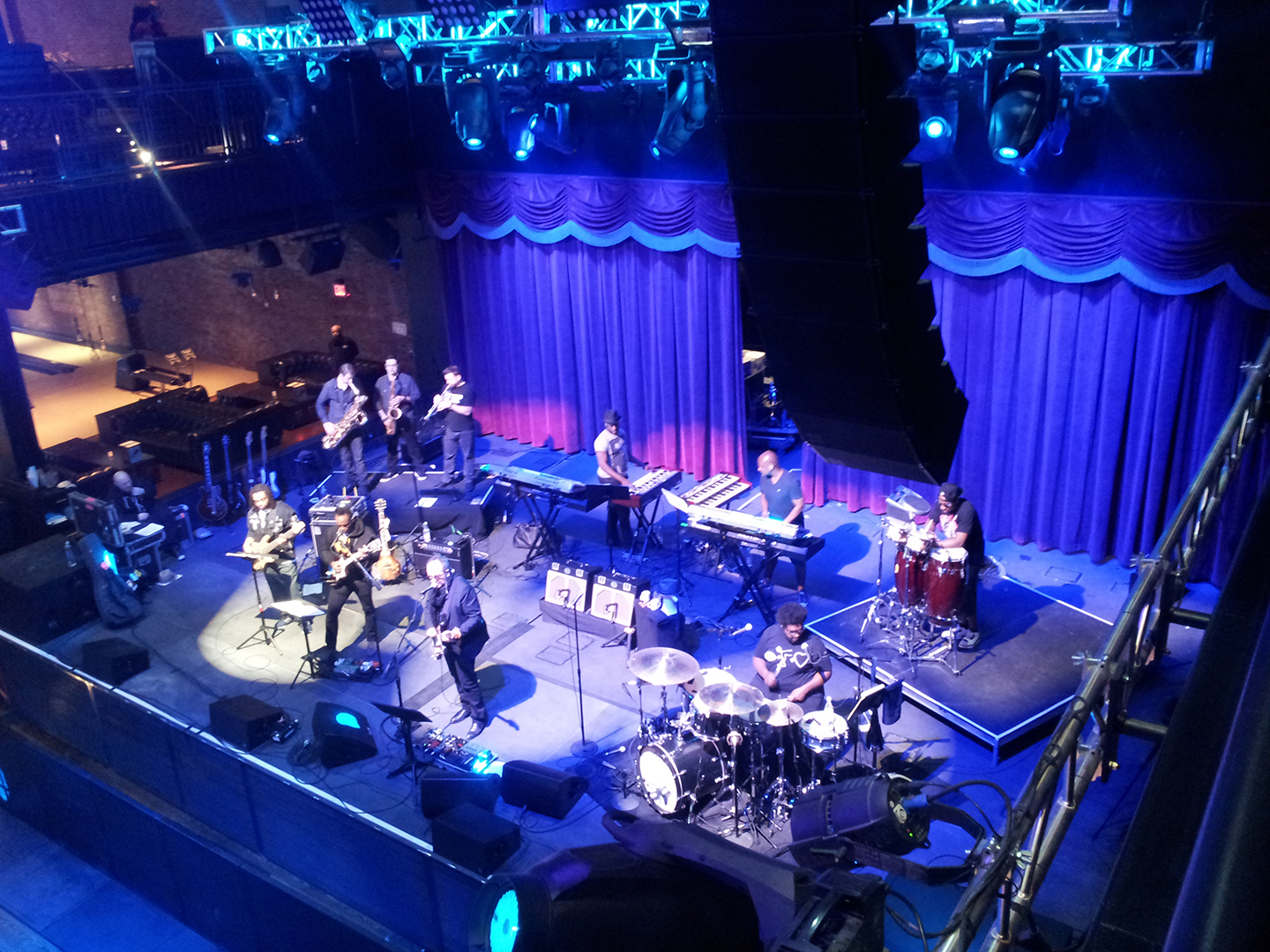 Brooklyn Bowl, Elvis Costello & The Roots rehearsal